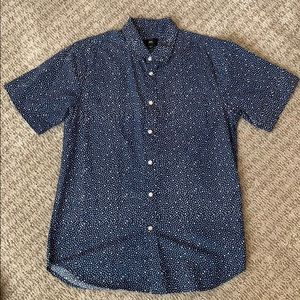 Navy Blue cotton Button/ Collared shirt